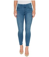 Ivanka Trump Tummy Control High Waisted Jegging In Vintage Blue Vintage Blue Women's Jeans