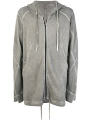 Lost And Found Ria Dunn Zipped Hoody Cotton Grey
