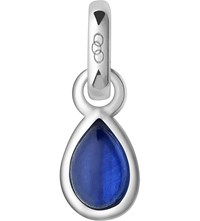Links Of London September Sterling Silver And Sapphire Mini Birthstone Charm Blue