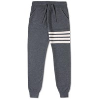 Thom Browne Stripe Cashmere Sweat Pant Grey