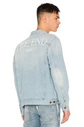 Off White Scorpian Denim Jacket Bleach White