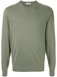 Gieves And Hawkes Crew Neck Jumper Green