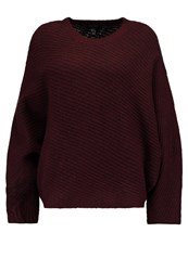 New Look Batwing Jumper Burgundy Bordeaux