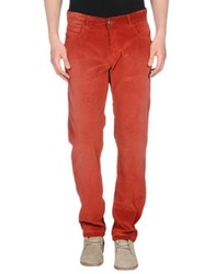 Brooksfield Royal Blue Casual Pants Red