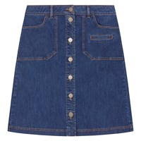 Gerard Darel Denim Cache Skirt Light Indigo