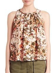 Prose And Poetry Abstract Print Tank Top Natural Camo Floral