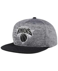 Mitchell And Ness New York Knicks Space Knit Snapback Cap Gray Heather