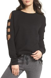 Zella Cutout Sleeve Sweatshirt Black