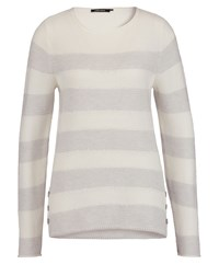 Olsen Side Button Stripe Jumper Pearl