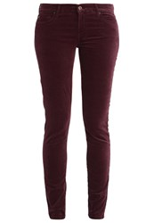 7 For All Mankind Jeans Skinny Fit Burgundy Bordeaux