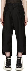D.Gnak By Kang.D Black Front Panel Trousers