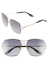 Women's Givenchy 58Mm Oversized Sunglasses Gold Copper Grey Gradient