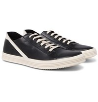 Rick Owens Geotrasher Leather Sneakers Black