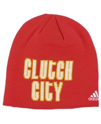 Adidas Houston Rockets Pride Jersey Hook Knit Hat Red