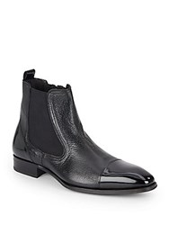 Mezlan Leather Pull On Boots Black