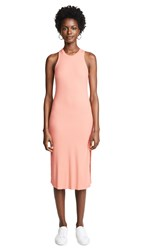 Cotton Citizen The Melbourne Tank Dress With Slit Pastel Coral