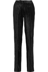 Topshop Unique Mayall Crushed Velvet Straight Leg Pants