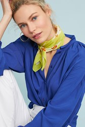 Anthropologie Pacific Paradise Kerchief Scarf Lime