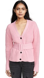 English Factory Belted Cardigan Pink