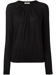 Nina Ricci Pleated Neck Pullover Black