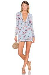 House Of Harlow X Revolve Mila Long Sleeve Romper Blue