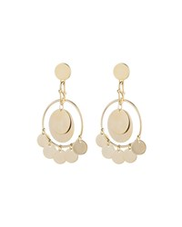Eddie Borgo Ios Coin Drop Earrings Gold