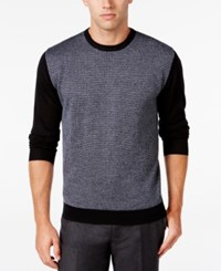 Ryan Seacrest Distinction Men's Colorblocked Houndstooth Sweater Only At Macy's Dark Navy
