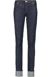 Acne Studios Flex Mid Rise Skinny Jeans Blue