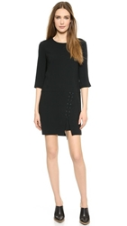 Tibi Laced Front Dress Black