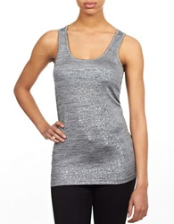 William Rast Foil Tank Top Heather Grey