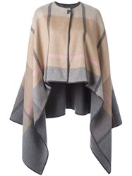 Salvatore Ferragamo Asymmetric Cape Multicolour