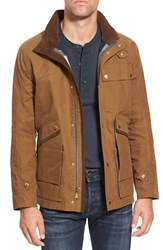 Eddie Bauer 'Huntridge Ilaria Urbinati Collection' Trim Fit Waxed Cotton Blend Field Jacket Hazelnut