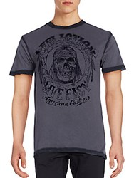Affliction Graphic Cotton T Shirt Charcoal