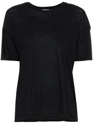 Adaptation Skeleton City Of Angels Cotton And Cashmere Tee Black