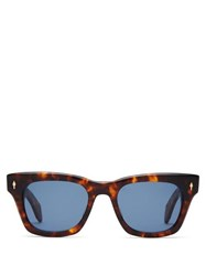 Jacques Marie Mage Delean D Frame Acetate Sunglasses Tortoiseshell