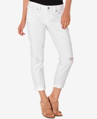 Silver Jeans Co. Ripped White Wash Cropped