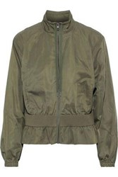 Frame Woman Gathered Shell Jacket Army Green