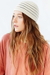 Urban Outfitters Crochet Skull Cap Nude