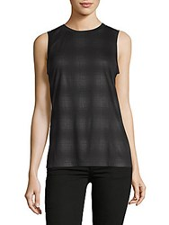 Getting Back To Square One The Muscle Plaid Tank Top Grey Black Plaid