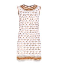 Missoni Print Gold Lame Mini Dress Female White