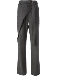 Avelon Crossover Front Belted Trousers Grey