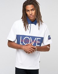 Love Moschino Vintage Logo Polo Shirt White