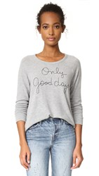 Sundry Only Good Days Pullover Heather Grey