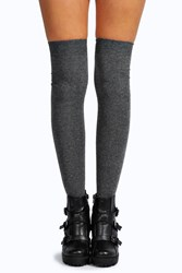 Boohoo Knee High Socks Grey