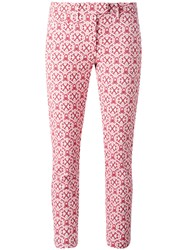 Dondup Printed Cropped Pants Red