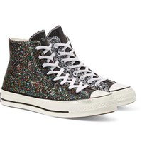Converse Jw Anderson 1970S Chuck Taylor All Star Glittered Canvas High Top Sneakers Black