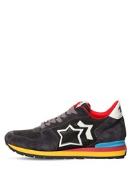Atlantic Stars Antares Suede And Nylon Running Sneakers Grey