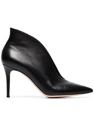 Gianvito Rossi Black Vania 85 Leather Ankle Boots