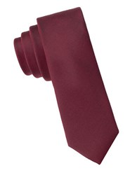 Calvin Klein Slim Fit X Liquid Luxe Solid Silk Blend Tie Red