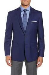 John W. Nordstrom Traditional Fit Check Wool Sport Coat Blue